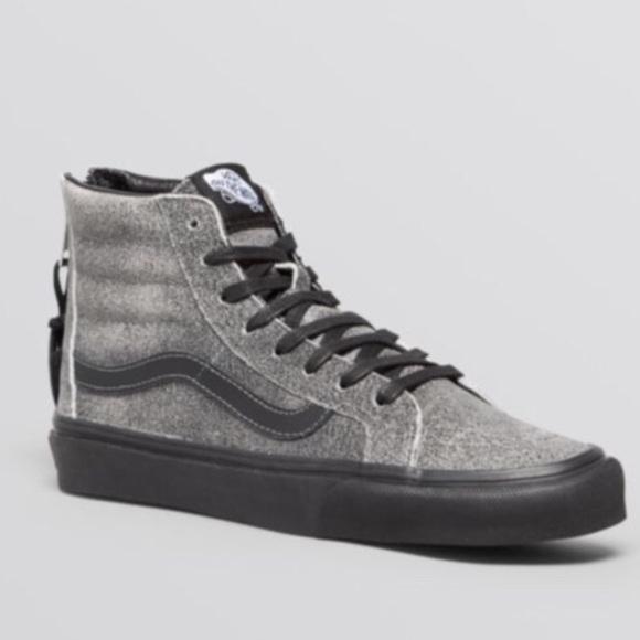 f9d46832e34162 Vans distressed leather SK8 Hi Slim Zip High tops.  M 5a7a92eb077b972ec26b282a. Other Shoes ...